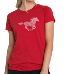 women's premium word art t-shirt - horse breeds