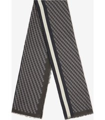 striped scarf grey 1