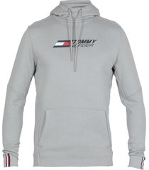 tommy hilfiger cotton blend logo hoodie