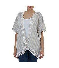 cotton vest, 'striped grey' (mexico)