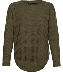 onlcaviar l/s pullover knt noos stickad tröja grön only