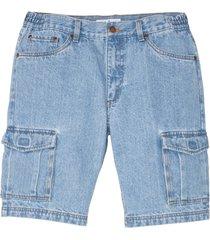 bermuda cargo in jeans regular fit (blu) - john baner jeanswear