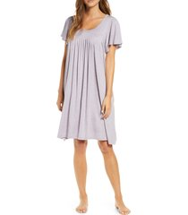 women's papinelle flutter sleeve nightgown, size medium - purple