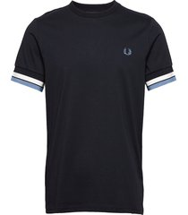 bold tipped t-shirt t-shirts short-sleeved blå fred perry