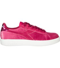 scarpe sneakers donna camoscio game wide chenille