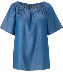 blouse met korte mouwen van emilia lay denim