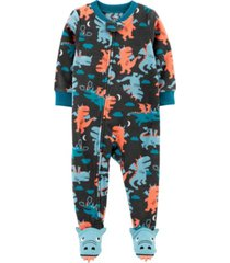 carter's big boy 1-piece dragon fleece footie pjs