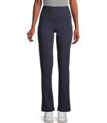 marika women's eclipse yoga pants - midnight blue - size xl