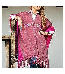 cotton poncho, 'autumn in the afternoon' (mexico)