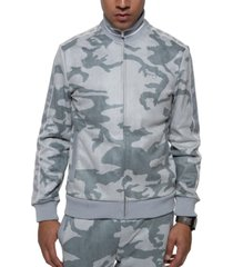 sean john men's camo faux suede track jacket
