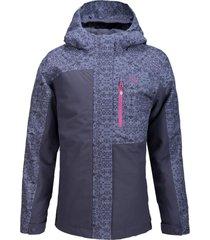 chaqueta andes snow indigo / print indigo lippi