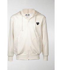 comme des garçons play heart logo hoodie