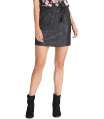 rachel rachel roy keni snake-embossed pull-on skirt