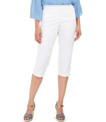 karen scott button-hem comfort-waist capri pants, created for macy's