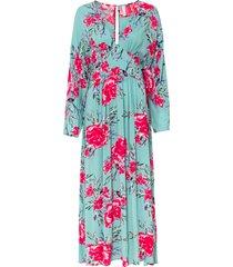 abito lungo in 100% viscosa (verde) - bodyflirt boutique