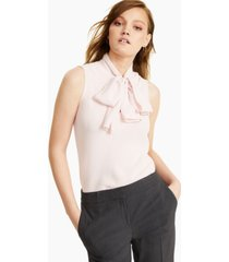 bar iii bow-neck blouse, created for macy's
