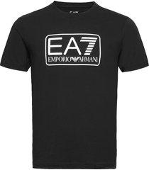 t-shirt t-shirts short-sleeved svart ea7