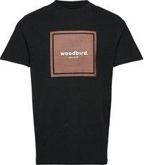 our box jubi tee t-shirts short-sleeved svart woodbird