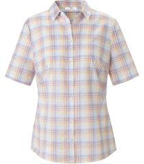 blouse 100% katoen ruitdessin van peter hahn wit