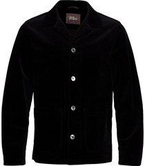 hampus shirt jacket blazer colbert zwart oscar jacobson