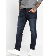 slim fit stretch thermojeans met fleece voering, straight