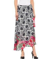 kjol alba moda vit::svart::röd