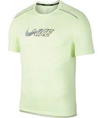 camiseta de hombre m nk df miler ss flash nv nike verde