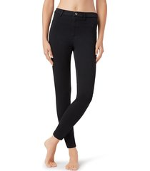calzedonia - thermal jeans, m short, black, women