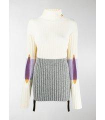 moncler genius colour-blocked ribbed-knit turtleneck sweater