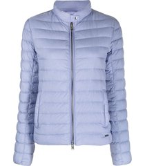 woolrich hibiscus quilted jacket - blue