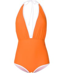 perfect moment retro swimsuit - yellow
