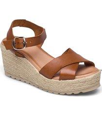 biadaneen sandal sandalette med klack espadrilles brun bianco