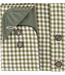 sleeve7 heren overhemd groen twill ruit modern fit