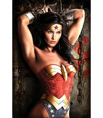 wonder woman chained to wall   2.5 x 3.5 fridge magnet