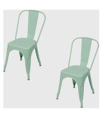 conjunto 2 cadeiras retro tifanny ordesign verde