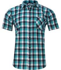 camisa a cuadros 3 colores color verde, talla xs