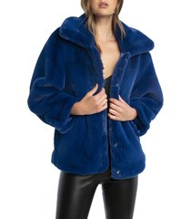 women's bardot pia faux fur jacket