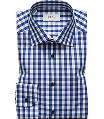 contemporary-fit gingham plaid shirt