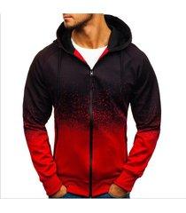 sudaderas con capucha para hombres moda casual algodón sudadera para-rojo