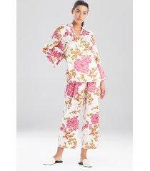 harumi satin pajamas / sleepwear / loungewear, women's, white, size l, n natori
