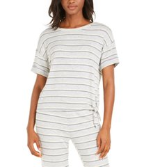 alfani side-tie pajama t-shirt, created for macy's