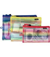 travelon set of 3 mesh pouches
