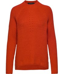mille t-neck knit gebreide trui oranje soft rebels