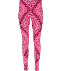 legging deportivo mix rosa color rosado, talla l