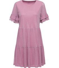 abito di jersey con mesh (rosa) - bodyflirt