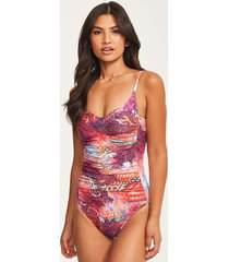 carnival underwire one-piece swimsuit