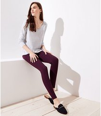 loft tall leggings in heathered seamed ponte