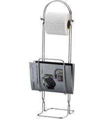 suporte para revista e papel higiênico de chão
