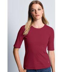 shirt 100% katoen ronde hals model velvet van bogner rood
