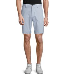 pinstripe stretch cotton shorts